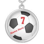 Collares personalizados del fútbol con número y no