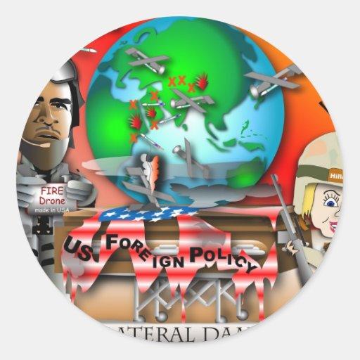 Collateral Damage Classic Round Sticker