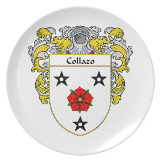 Collazo Coat of Arms/Family Crest Dinner Plate