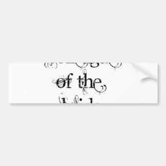 Colleague of the Bride Bumper Sticker