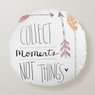 Collect Moments | Change your background color Round Pillow