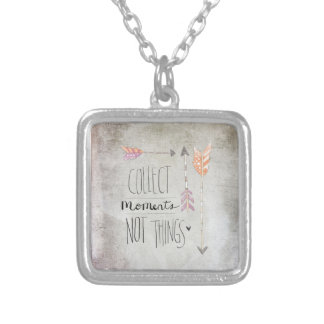 Collect Moments Not Things Custom Necklace