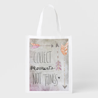 Collect Moments Not Things Market Totes