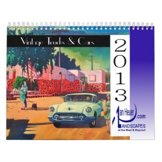 COLLECTABLE 2013 Calendar! Vintage Trucks and Cars