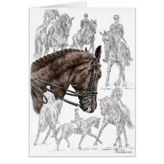 Collected Dressage Horses FEI Greeting Card