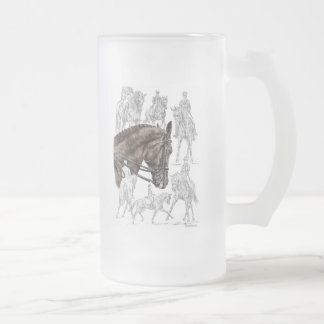 Collected Dressage Horses FEI Frosted Glass Beer Mug