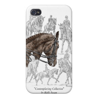 Collected Dressage Horses FEI iPhone 4 Cover