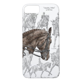 Collected Dressage Horses FEI iPhone 8/7 Case