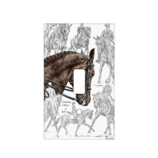Collected Dressage Horses FEI Light Switch Cover