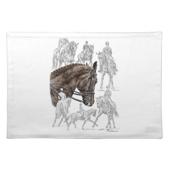 Collected Dressage Horses FEI Placemat