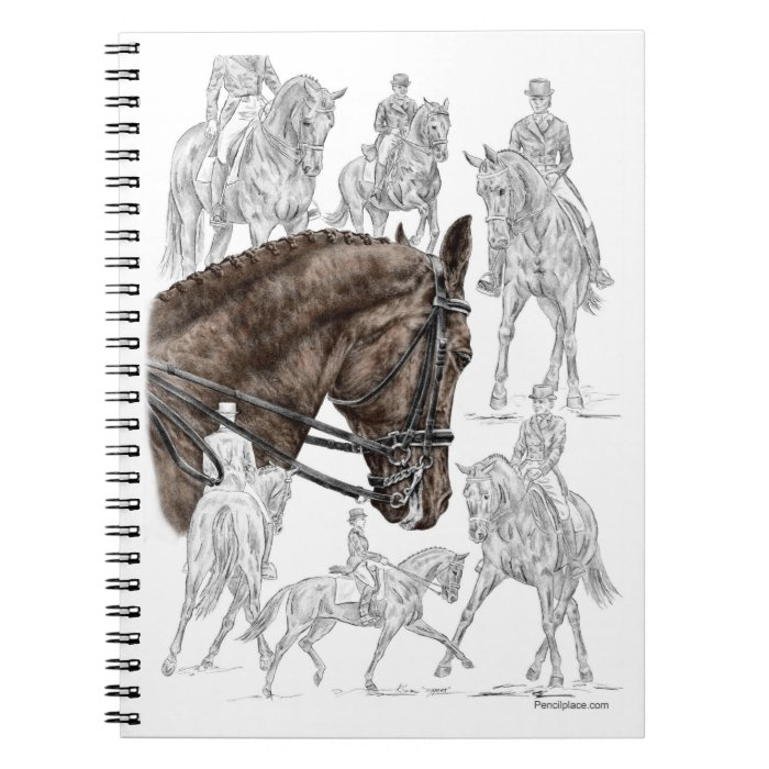 Collected Dressage Horses FEI Spiral Notebook