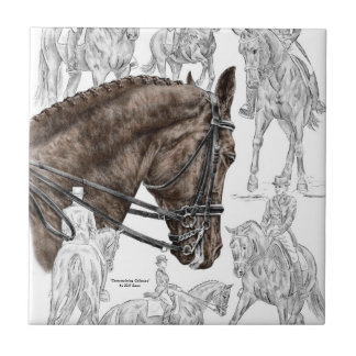 Collected Dressage Horses FEI Small Square Tile