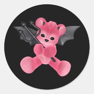 ♥ Collectible Art ♥ Devil Teddy Bear ♥ (bear5) Classic Round Sticker