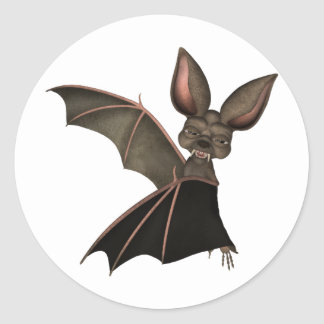 ♥ Collectible Art ♥ Vampire Bat ♥ (bat1) Classic Round Sticker