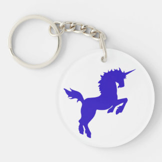 Collectible Color Unicorn in Blue Key Ring