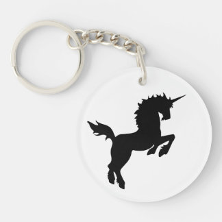 Collectible colors unicorn in BLACK Keychain