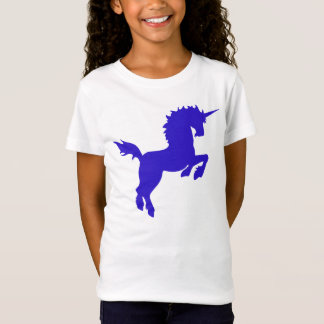 Collectible colors unicorn in Blue Tee