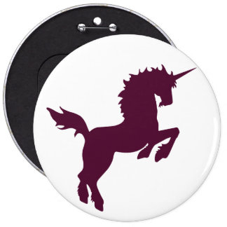 Collectible colors unicorn in Maroon Button
