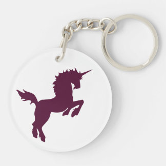 Collectible colors unicorn in Maroon Key Chain