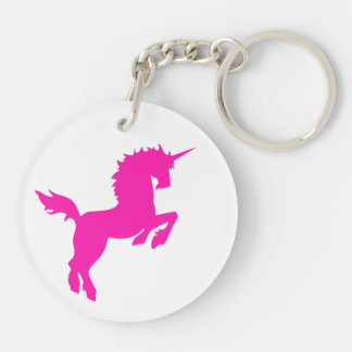 Collectible colors unicorn in PINK Keychain