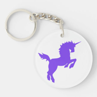 Collectible colors unicorn in PURPLE Keychain