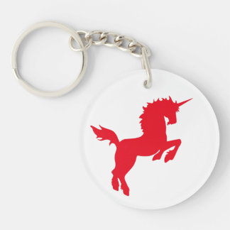 Collectible colors unicorn in RED Keychain