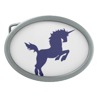 Collectible colors unicorn in Ultramarine Buckle Oval Belt Buckle