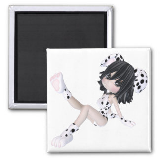 ♥ Collectible Puppy Doll Art ♥ (dolfie2) 2 Inch Square Magnet