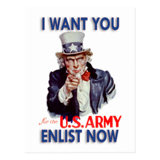 Collectible Restored Uncle Sam Post Card
