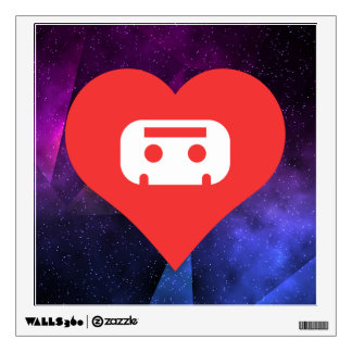Collecting Cassettes Symbol Wall Stickers