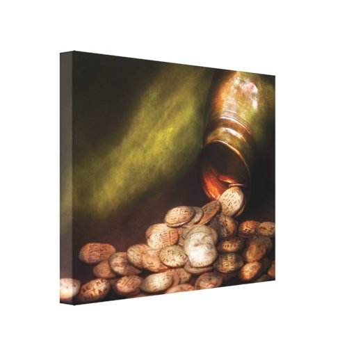 Collecting - Coins - Treasure Quest Stretched Canvas Print