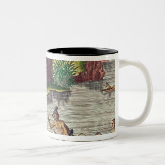 Collecting Crops for the Communal Storehouse Two-Tone Coffee Mug
