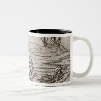 Collecting driftwood for the cabin in which the ex coffee mug