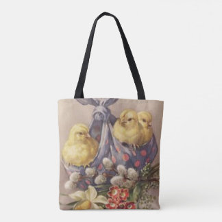 Collecting Easter Chicks Tote Bag