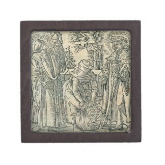 Collecting Herbs for Medicine, 1534 (woodcut) Gift Box