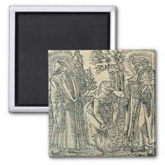 Collecting Herbs for Medicine, 1534 (woodcut) Magnet