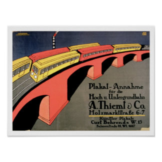 'Collecting Point For Over and Underground Railway Poster