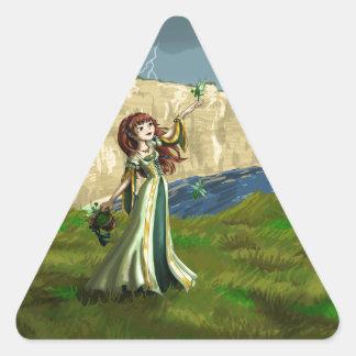 Collecting Shammrocks Triangle Sticker