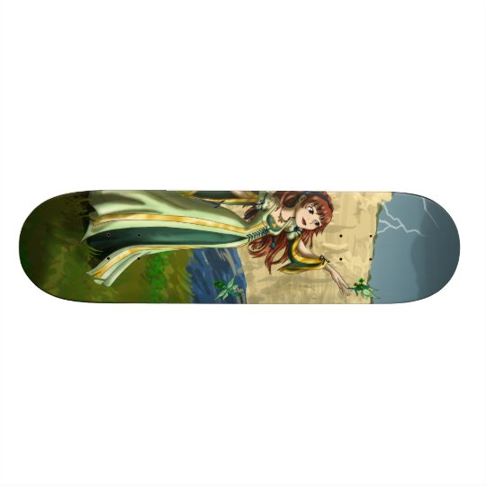 Collecting Shamrocks Skateboard