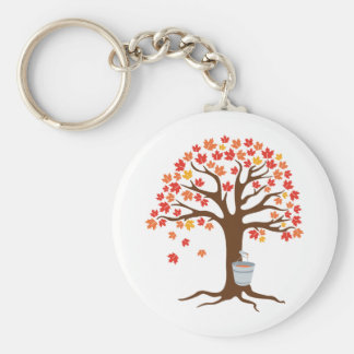 Collecting Syrup Keychain