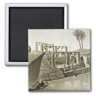 Collecting Water from the Nile, plate 6 from Volum 2 Inch Square Magnet