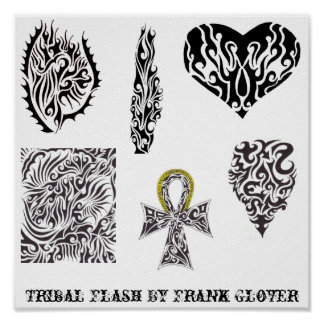 Collection 1 Tribal Flash By Frank Glover Poster