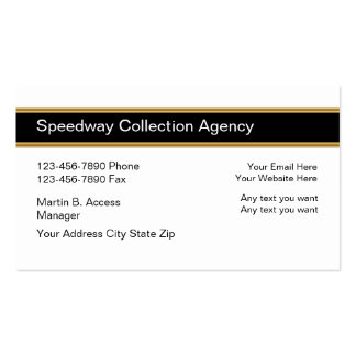 Collection Agency Business Cards