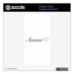 """Collection """"amour"""" ( love ) decals for the iPhone 4"""