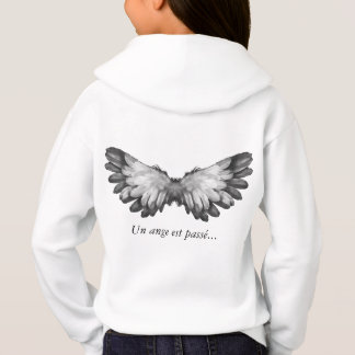 "Collection ""an angel passes…"" sweat white hoodie"