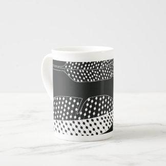 Collection black and white porcelain mug
