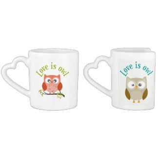 """Collection """"Coils is owl """" Coffee Mug Set"""