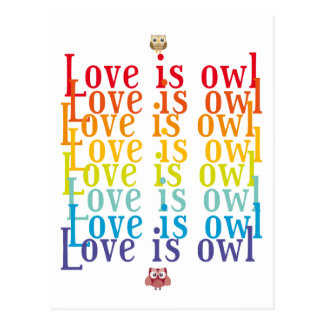 """Collection """"Coils is Owl """" Postcard"""