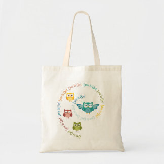 """Collection """"Coils is owl """" Tote Bag"""