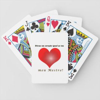 Collection heart bicycle playing cards